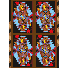 Wall decoration Card Queen of Hearts