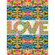 Wall decoration Love Love checkered patterns I