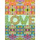 Wall decoration Love Love checkered patterns II
